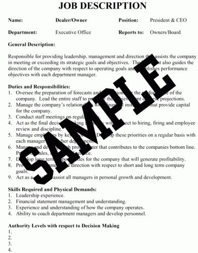 Sample Job Descriptions - Powerful insights that help you make ...