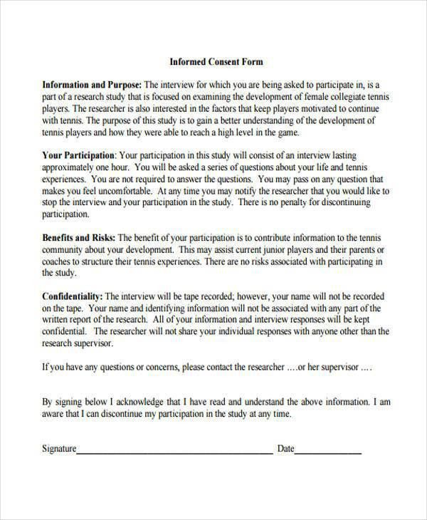Consent Forms in PDF