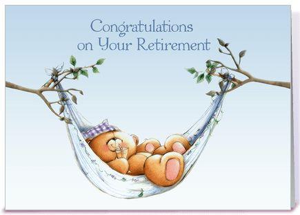 Retirement Bear, Hammock greeting card by Starstock Greetings ...