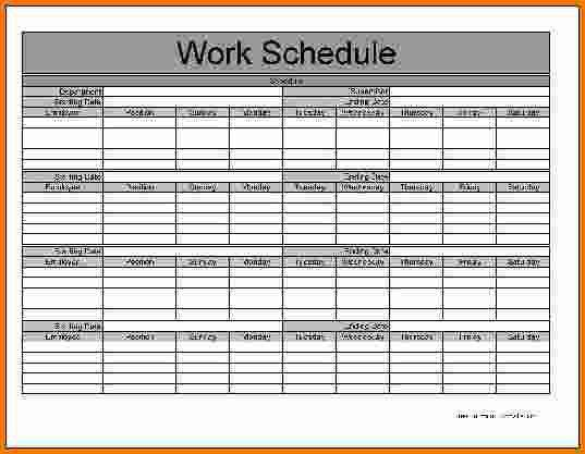 5+ monthly schedule template | Expense Report