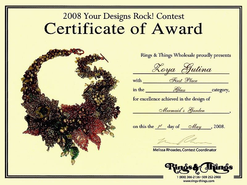 2008 Gemstone and beaded jewelry contest: First Place Winner ...