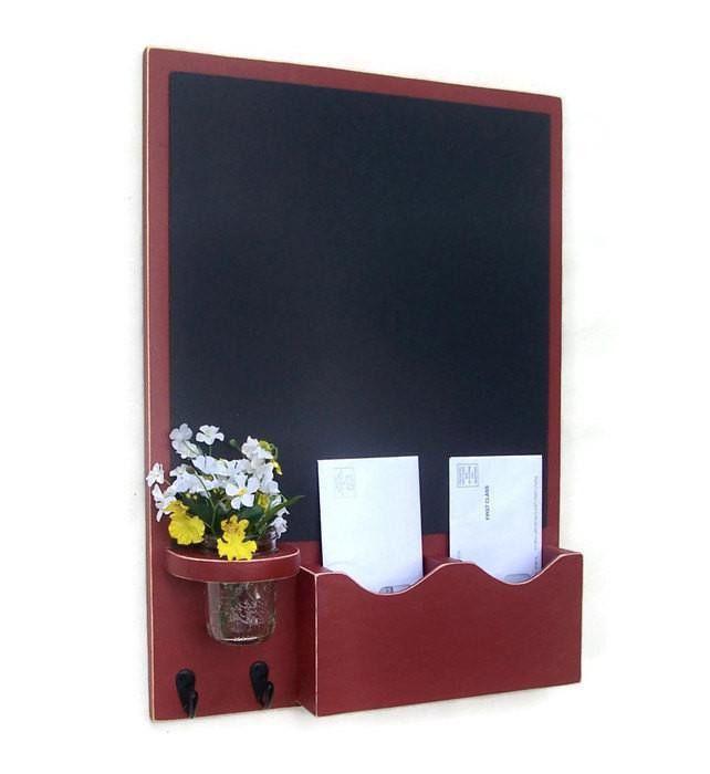 Chalkboard Mail Organizer - Letter Holder - Mail Holder - Key ...