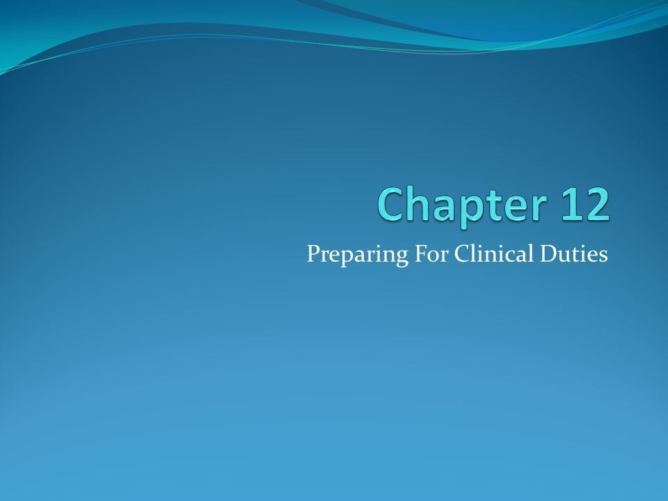 Preparing For Clinical Duties. Keeping The Entire Medical Facility ...