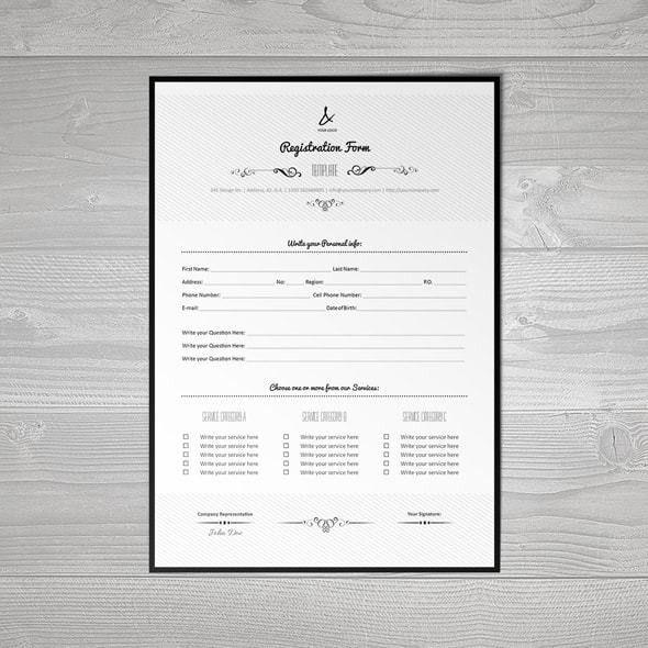 Registration Form Template v7