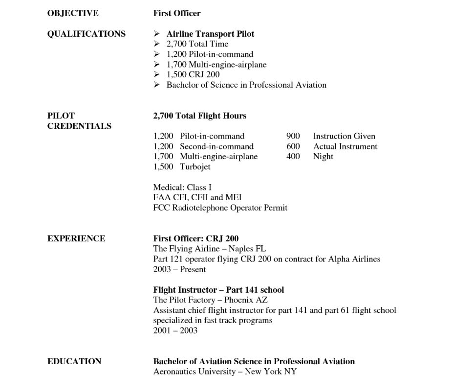 aviation resume template