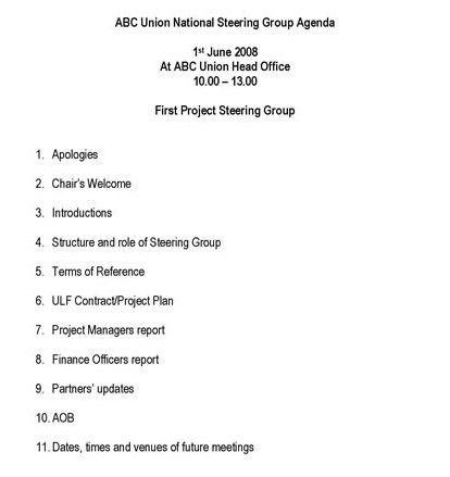 Draft Meeting Agenda Vilkaviskis Meeting Agenda Draft 15 – Staff Meeting Agenda Sample