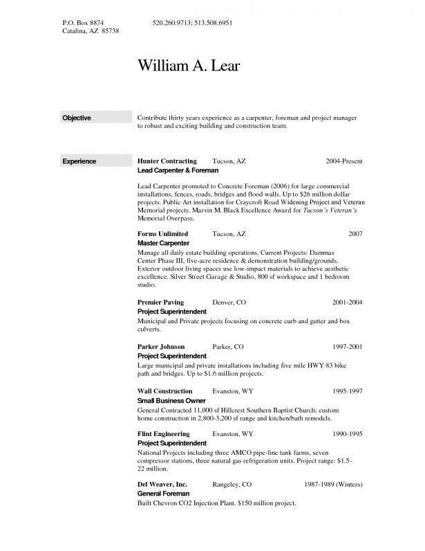 Curriculum Vitae : Apprentice Carpenter Resume Sample And Text ...