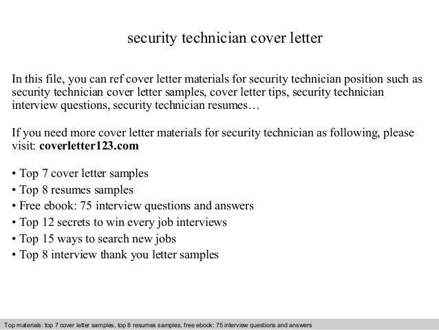 pc technician cover letter