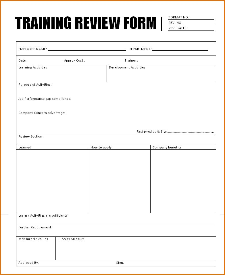 8+ training document template | Job Resumes Word