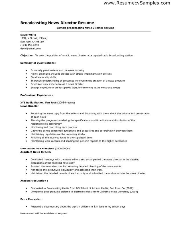 journalism resumes samples training consultant resume professional ...