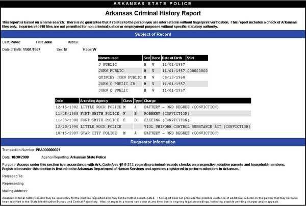 Online Criminal Background Check System
