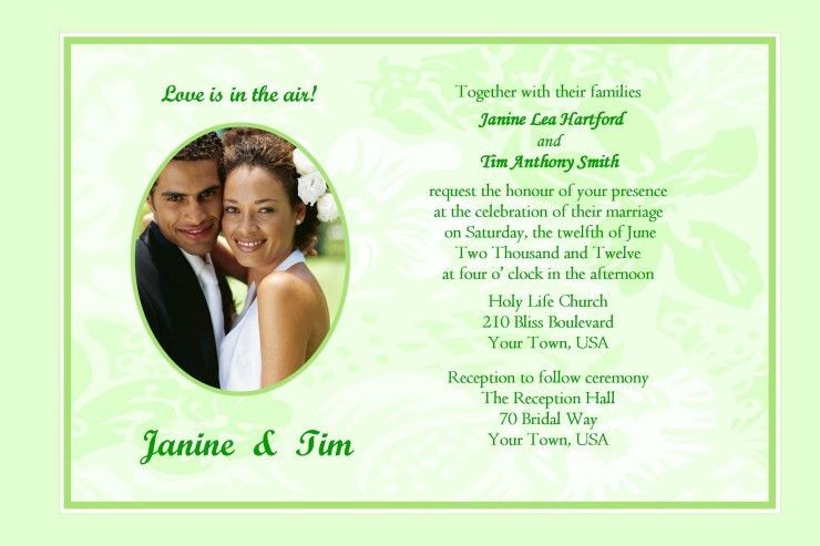 Sample Of Wedding Invitation - Kawaiitheo.Com