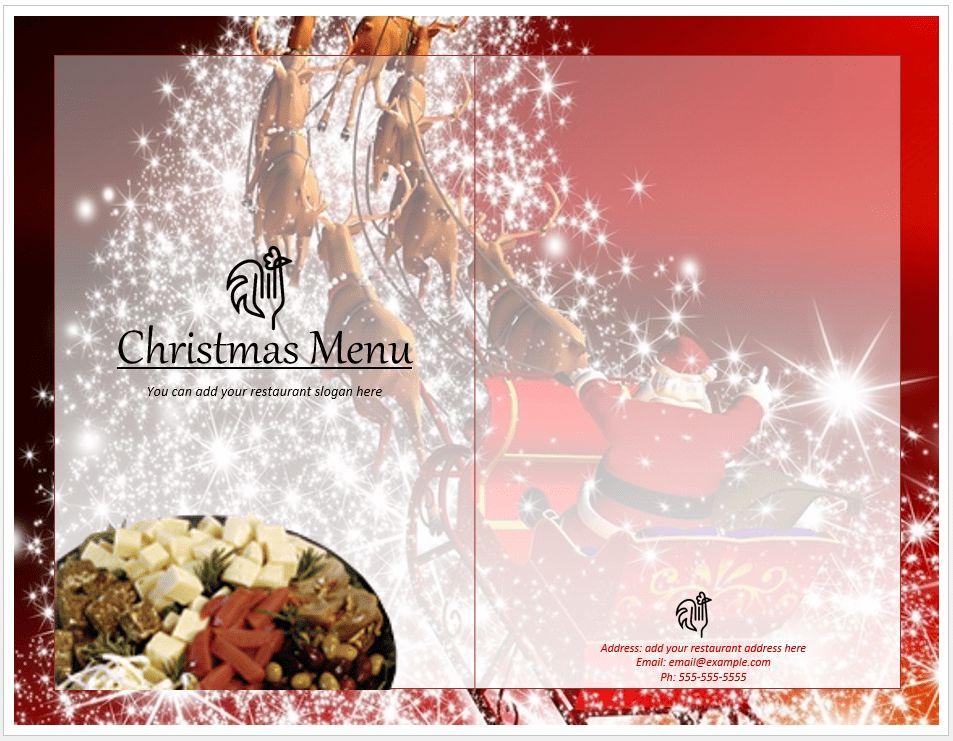 Christmas Menu Template | Format & Template