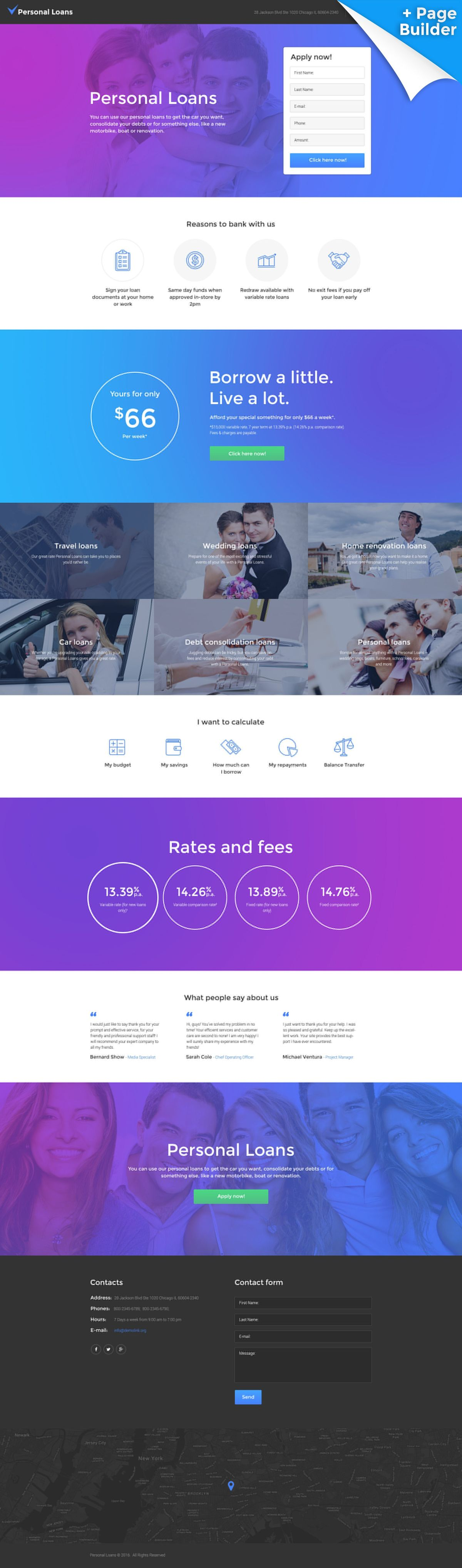 Finance Landing Page Templates   TemplateMonster