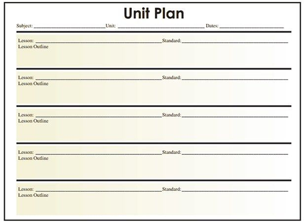 Unit Plan Template. Lesson Plan Template 27 44 Free Lesson Plan ...
