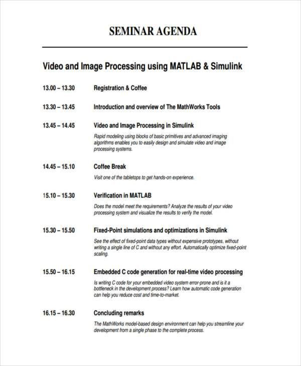 26+ Agenda Format Templates | Free & Premium Templates