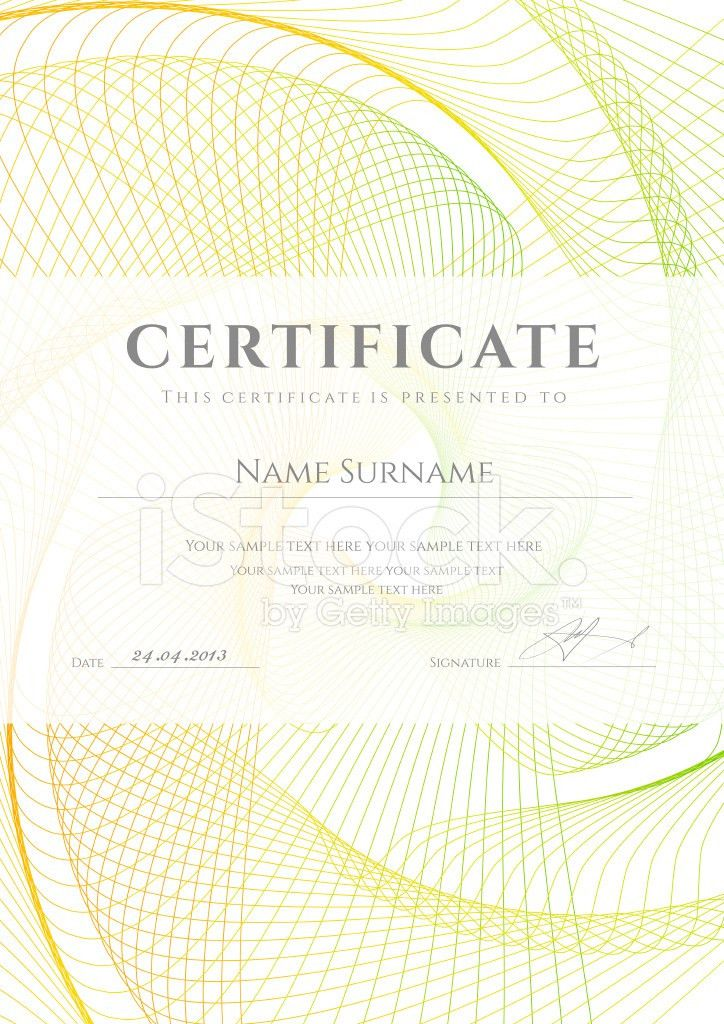Certificate / Diploma Background Design With Colorful stock photos ...