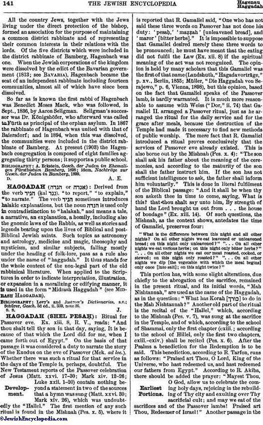 HAGGADAH (SHEL PESAḤ) - JewishEncyclopedia.com