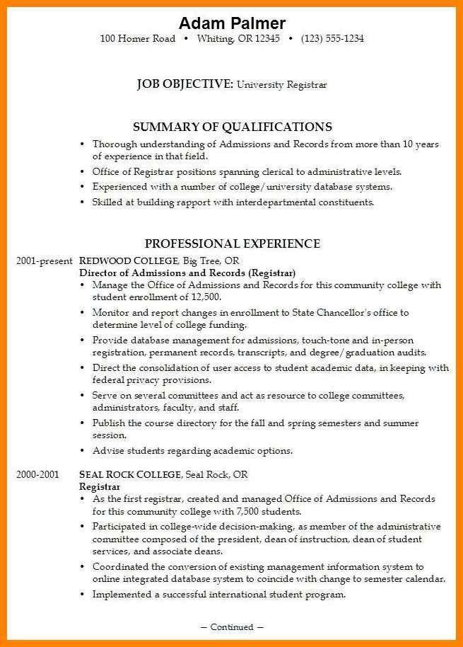 college admission resume | art resumes