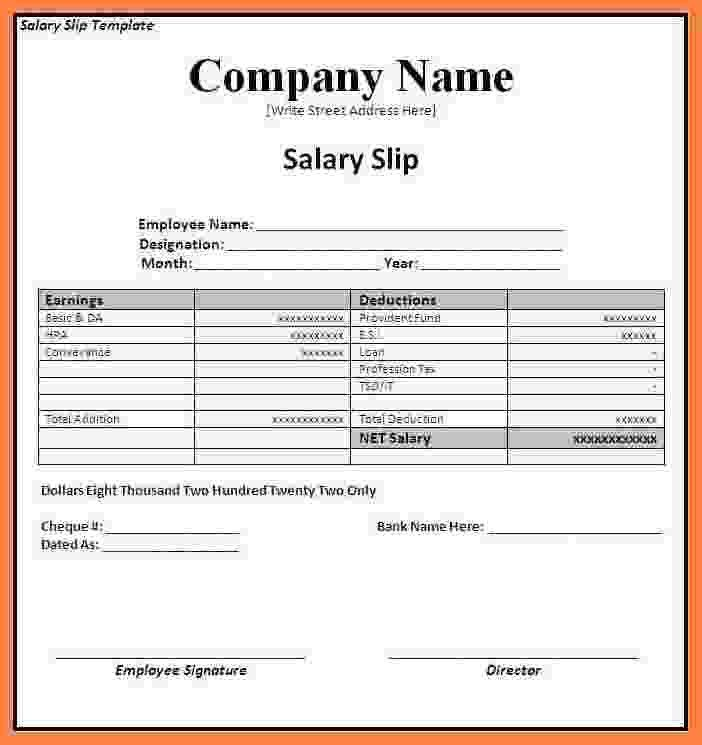 7+ employee salary slip format | Simple salary slip