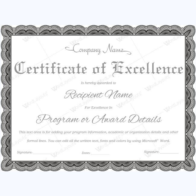 89+ Elegant Award Certificates for Business and School Events
