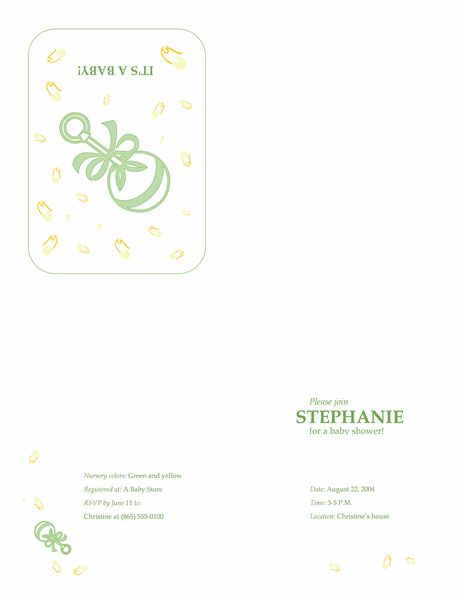 Baby shower invitation with RSVP - Office Templates