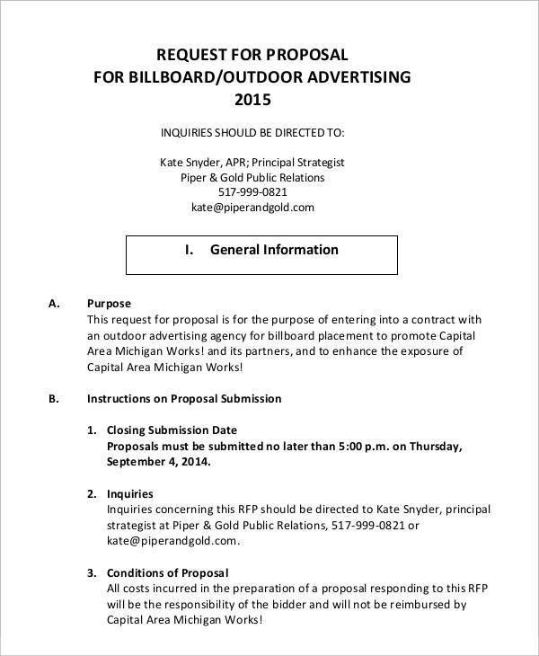 9 Advertising Proposal Templates - Free Sample, Example Format ...