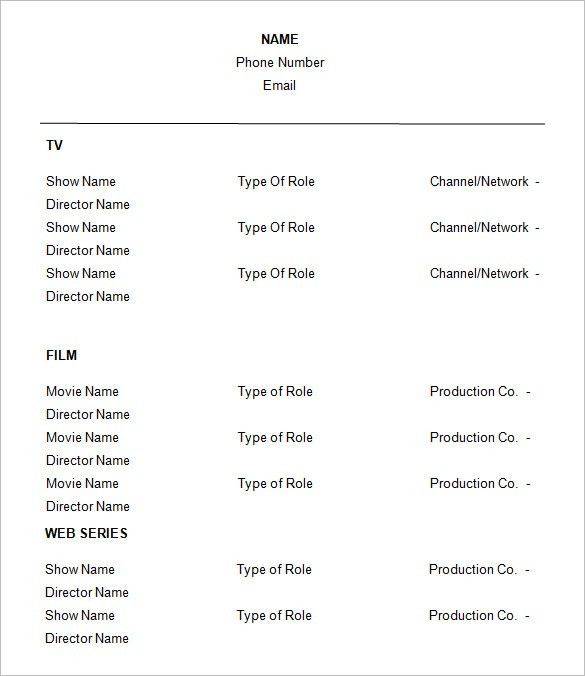 Download Theater Resume Template | haadyaooverbayresort.com