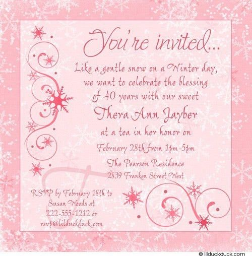 Adult Birthday Invitation Wording - Themesflip.Com