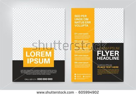 Vector Layout Design Template Leaflet Poster Stock Vector ...