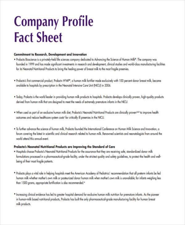 28 Fact Sheet Formats | Free & Premium Templates