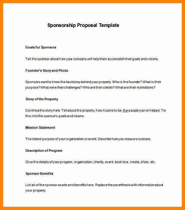 10+ athlete sponsorship proposal template | job resumed