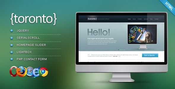 Toronto - HTML/CSS Template by gogh | ThemeForest