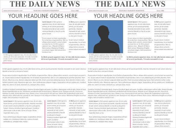 Newspaper Template Word | Business Template