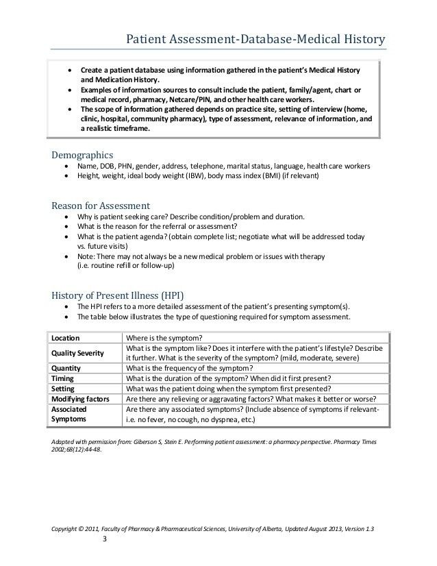 Patient care process faculty of pharmacy alberta 2013 pharmaceutical…