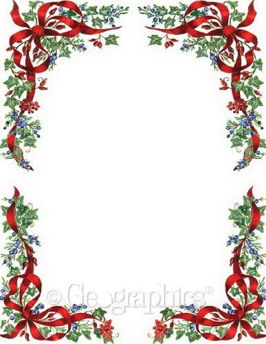 Ivy and Berries Christmas Letterhead 47678