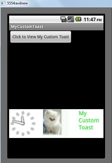 Custom Toast Notification in Android with an Example | Android Desk