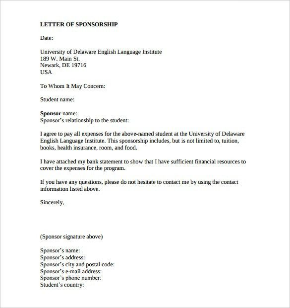 Sponsorship Letter Templates - 40+ Free Sample, Example Format ...