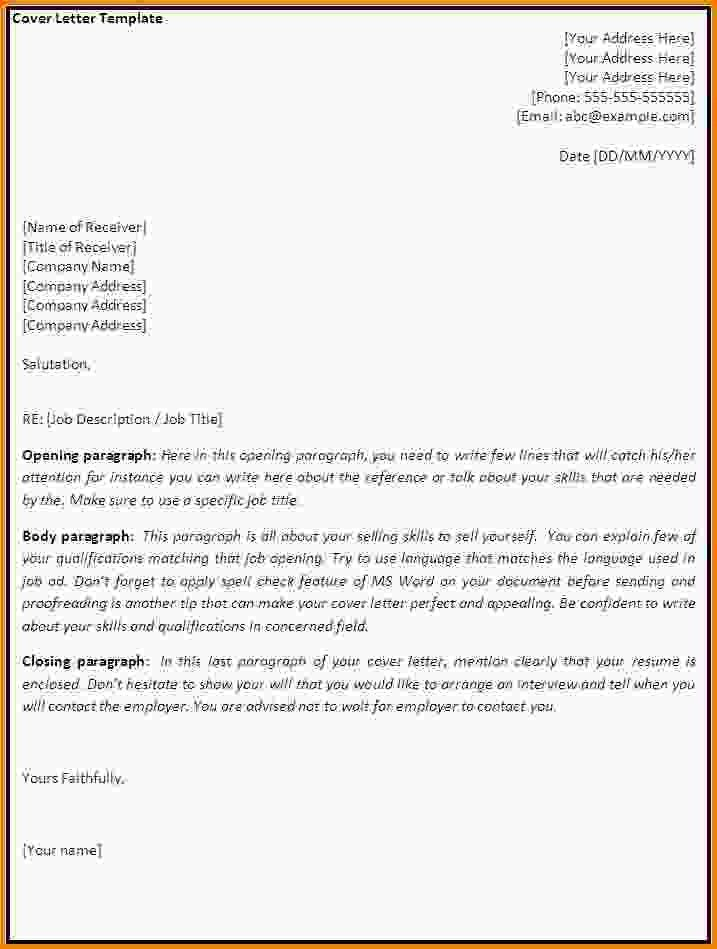 Word Cover Letter Template.free Cover Template 1.gif - Letter ...