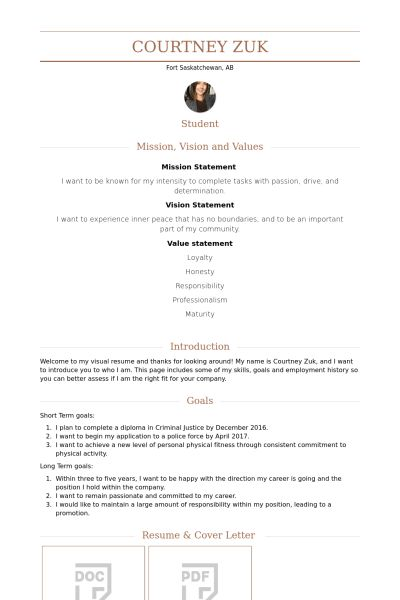 Housekeeper Resume samples - VisualCV resume samples database