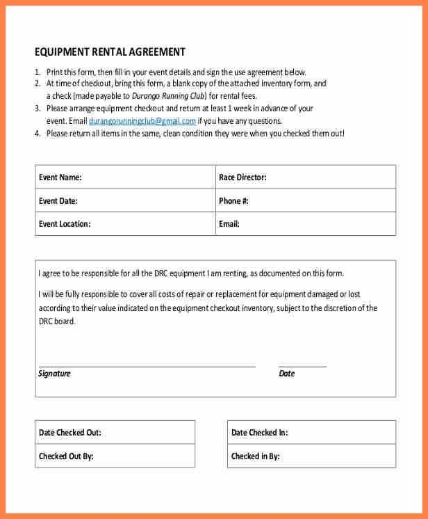 9+ equipment rental agreement form template | Purchase Agreement Group