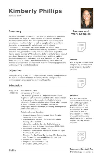 Management Trainee Resume samples - VisualCV resume samples database
