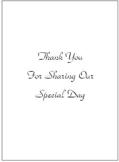 Thank You Card Templates - Wedding Thank You Card Templates