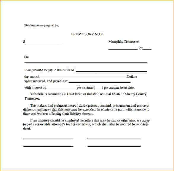 Free Promissory Note Template Word.Free Download Colorado ...