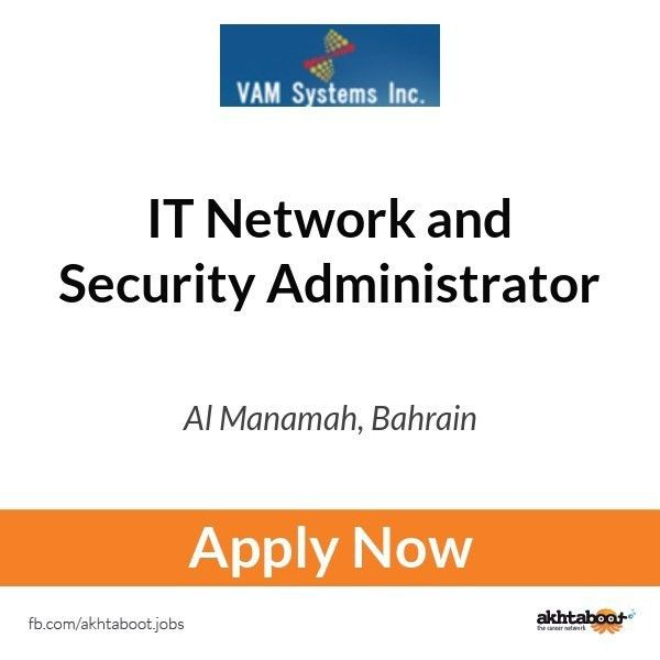 IT Network and Security Administrator job at Vamsystems in Al ...