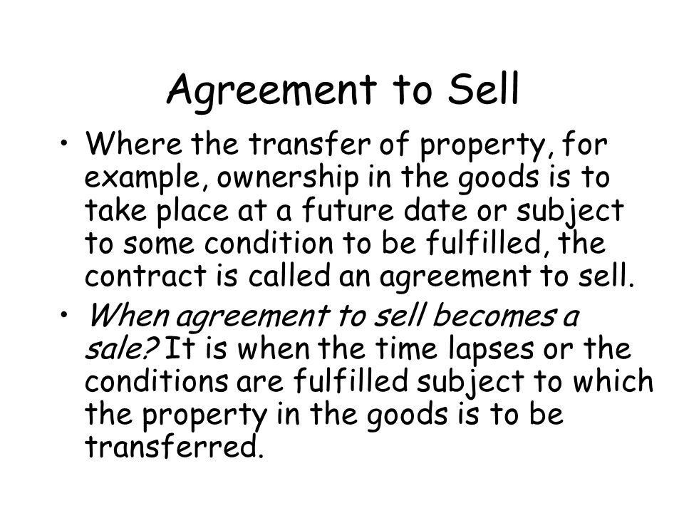 LAW OF SALE OF GOODS A contract of sale of goods is a contract ...