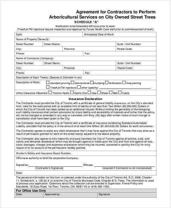 Basic Agreement Form