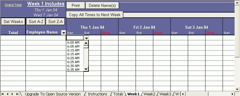 Excel Timesheet That Will Keep Track of Your Employees Hours (up ...