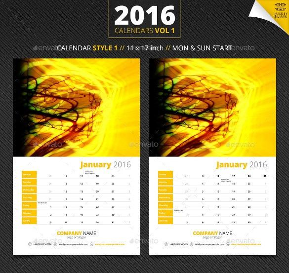 16+ Holiday Calendar Templates - Free PSD, Vector EPS, PNG Format ...