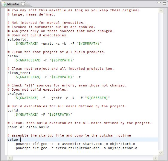 7.13. User-Defined Builder Commands — GNATbench for Eclipse User's ...